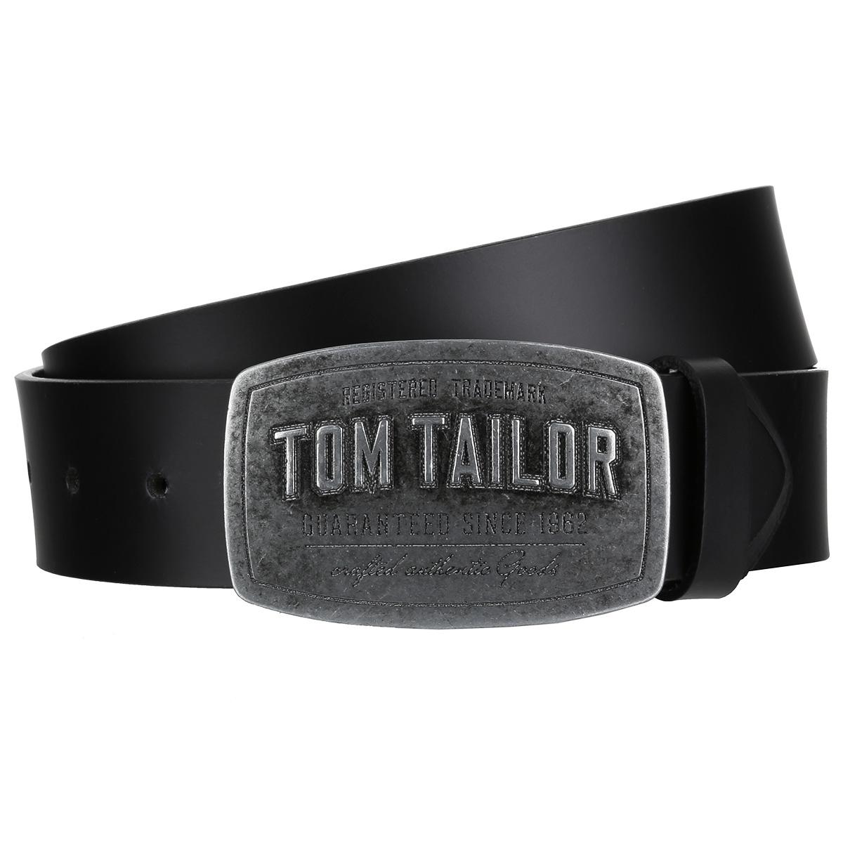 Tom Tailor Männer Leder Koppel Gürtel Belt Schwarz TG1060R01 0791 | online Shop Taschen, Koffer, Gelbörsen, Gürtel, Schirme, Tücher
