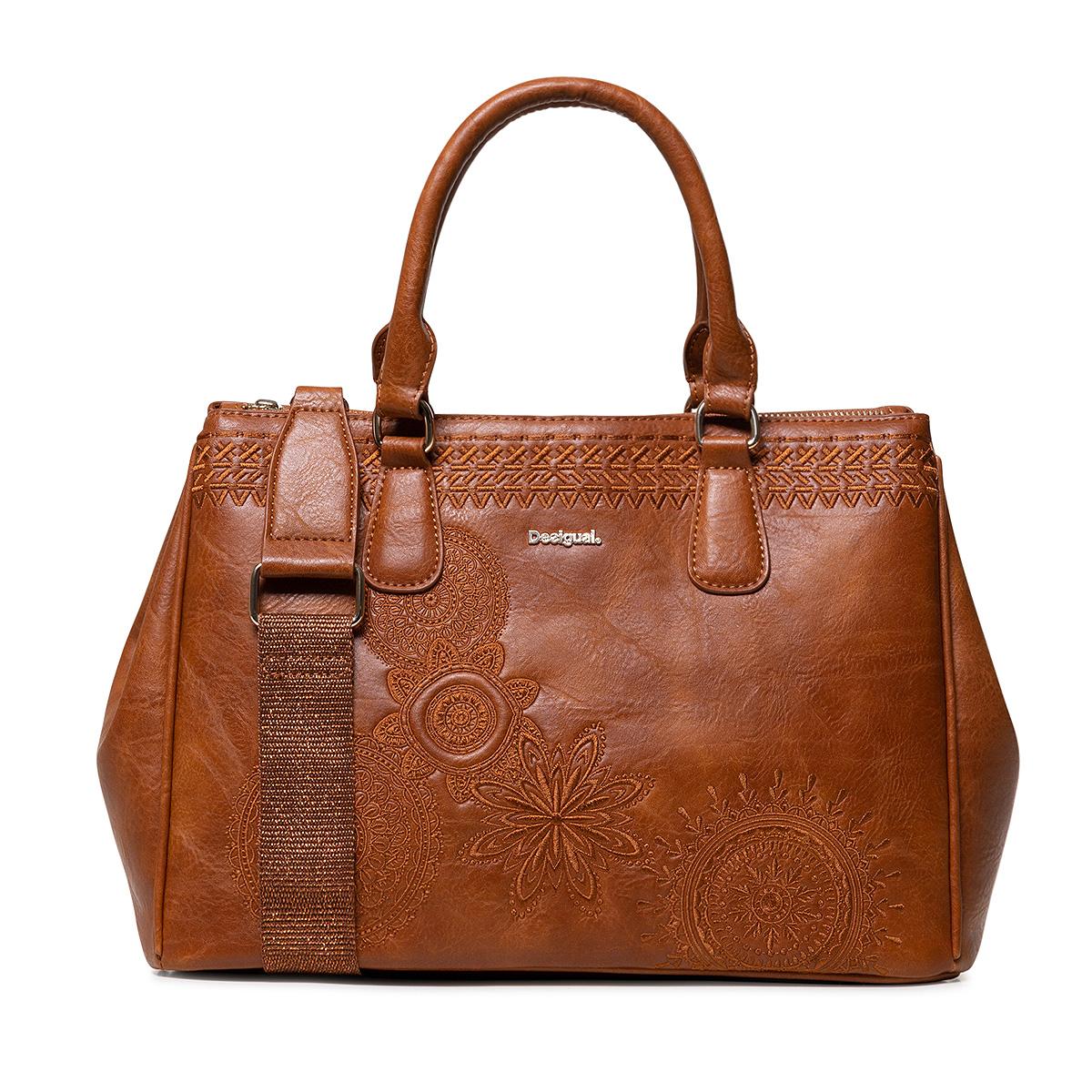 Desigual Handtasche Bowling Bag Bols Dark Amber Cabo 19SAXPCA