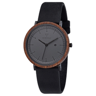 Kerbholz Amelie Walnut Midnight Black Damen Uhr Armbanduhr 4251240409214