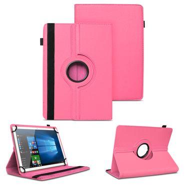 Tablet Tasche 10 - 10.1 Zoll Hülle Pink Case Schutz Cover 360 Drehbar Universal