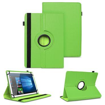 Tablet Tasche 9.7 - 10.1 Zoll Hülle Grün Case Schutz Cover 360 Drehbar Universal