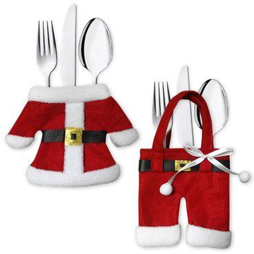 Besteckhalter Besteckbeutel Bestecktasche Serviettentasche Weihnachten Set – Bild 1