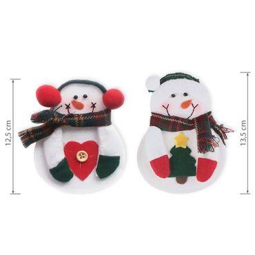 6x Besteckbeutel Bestecktasche Serviettentasche Deko Besteckhalter Weihnachten  – Bild 6