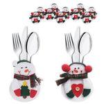 6x Besteckbeutel Bestecktasche Serviettentasche Deko Besteckhalter Weihnachten  001