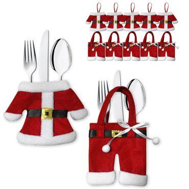 Besteckhalter Besteckbeutel Bestecktasche Serviettentasche Weihnachten 6er Set – Bild 1