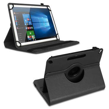 Schutzhülle 10 - 10.1 Zoll Hülle Tablet Tasche Schwarz Case Cover 360 Drehbar – Bild 2