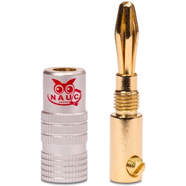22x Bananenstecker vergoldet Nauc High End Bananas Stecker f Kabel bis 6mm² 24K  – Bild 7