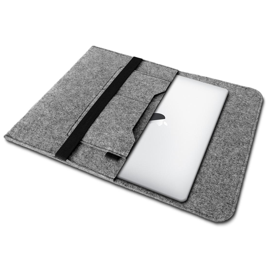 apple macbook pro 13 3 h lle filz grau tasche notebook cover sleeve schutzh lle notebook. Black Bedroom Furniture Sets. Home Design Ideas