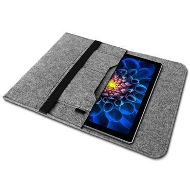 Microsoft Surface Pro 3 Tasche Hülle Grau Filz Sleeve Case Schutzhülle Tablet Cover – Bild 2