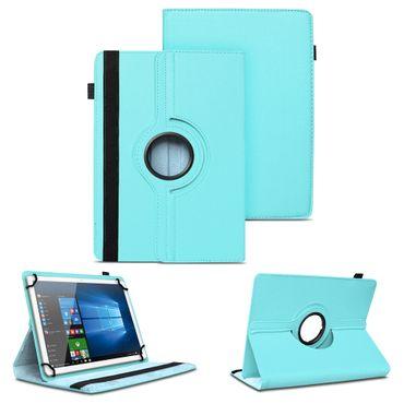 Tablet Tasche 10 - 10.1 Zoll Hülle Türkis Case Schutz Cover Drehbar Universal