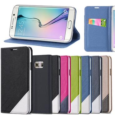 Schutz Hülle f Samsung Galaxy S6 Edge Tasche Flip Case Schutzhülle Smartphone