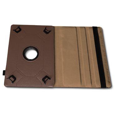 Universal Tablet Tasche 10 - 10.1 Zoll Hülle Case Schutz Cover Braun 360 Drehbar – Bild 7