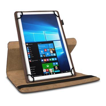 Universal Tablet Tasche 10 - 10.1 Zoll Hülle Case Schutz Cover Braun 360 Drehbar – Bild 3