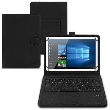 Tastatur Hülle Bluetooth Keyboard Tasche Cover Tablet Case QWERTZ Schutzhülle