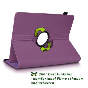 Samsung Galaxy Tab E 9.6 Tablet Hülle Tasche Schutzhülle Cover 360° Drehbar Case – Bild 23