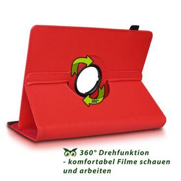 Samsung Galaxy Tab E 9.6 Tablet Hülle Tasche Schutzhülle Cover 360° Drehbar Case – Bild 11