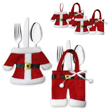 Besteckbeutel Bestecktasche Serviettentasche Besteckhalter Weihnachten 3er Set – Bild 1
