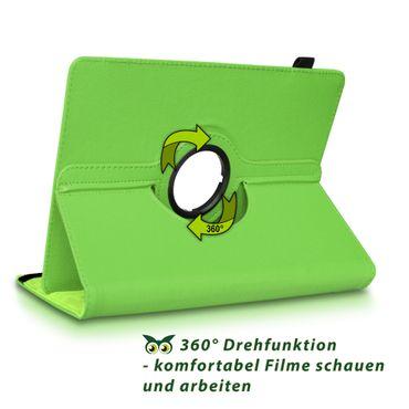 Tablet Hülle Medion Lifetab E10430 E10604 E10412 E10511 E10513 Tasche Drehbar – Bild 17