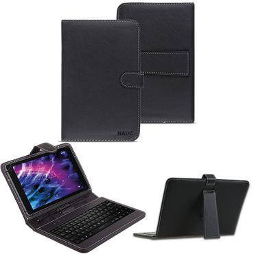 NAUC Tastatur Tasche für Medion Lifetab S10321 Keyboard USB Hülle QWERTZ Cover – Bild 1