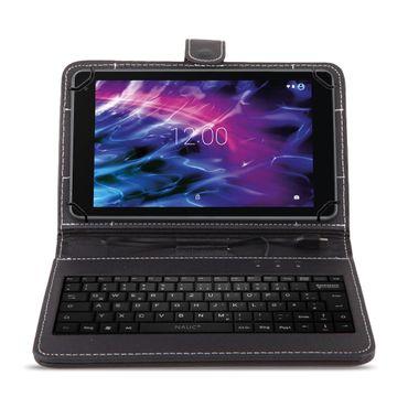 NAUC Tastatur Tasche für Medion Lifetab S10321 Keyboard USB Hülle QWERTY Cover – Bild 3