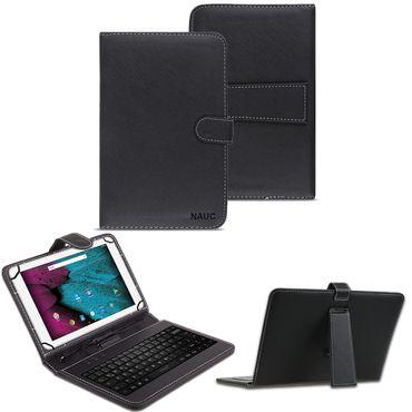 Tastatur Tasche für Odys Pace 10 Keyboard USB Hülle QWERTZ Case 10.1 Zoll Cover