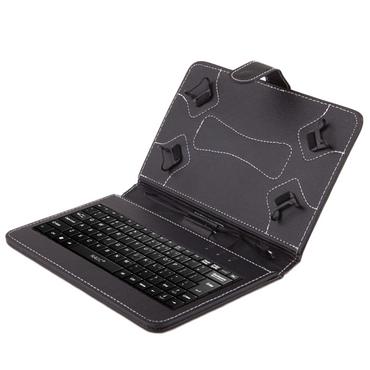 NAUC® Keyboard Micro USB Tastatur Ultra für Medion Lifetab S10351 S10352 Tablet dünn ergonomisches Design QWERTZ Tastatur mit Schutzhülle aus robustem leicht zu reinigenden Kunstleder mit Standfunktion und Magnetverschluss – Bild 2