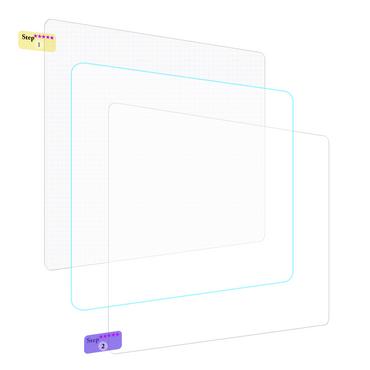Display-Schutz-Folie Medion Lifetab S10351 S10352 Schutzfolie 2x klar Universal – Bild 2