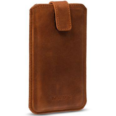 Universal Smartphone Leder Tasche Pull Tab Sleeve Hülle Schutzhülle Case Cover – Bild 4
