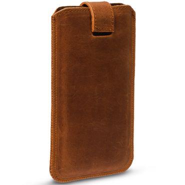 Universal Smartphone Leder Tasche Pull Tab Sleeve Hülle Schutzhülle Case Cover – Bild 5