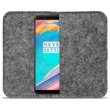 Filz Tasche für OnePlus 6 Hülle Schutz Cover Case Handy Filztasche Schutzhülle – Bild 10