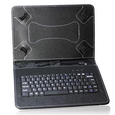 NAUC Keyboard Micro USB Tastatur Ultra für Medion Lifetab P8502 P8513 Tablet dünn ergonomisches Design QWERTZ Tastatur mit Schutzhülle aus robustem leicht zu reinigenden Kunstleder mit Standfunktion und Magnetverschluss – Bild 2