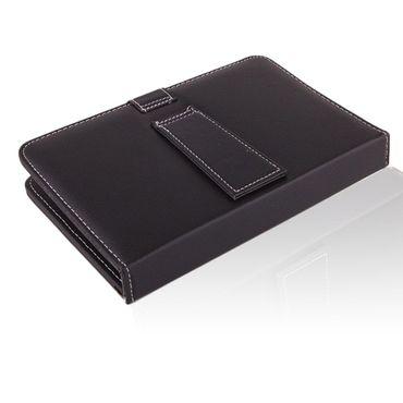 NAUC Keyboard Micro USB Tastatur Ultra für Medion Lifetab P8502 P8513 Tablet dünn ergonomisches Design QWERTZ Tastatur mit Schutzhülle aus robustem leicht zu reinigenden Kunstleder mit Standfunktion und Magnetverschluss – Bild 6