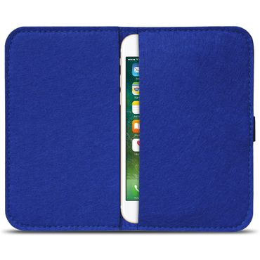 Apple iPhone SE 5 5S 5C Tasche Filz Hülle Cover Handy Schutz Case Schutzhülle  – Bild 15