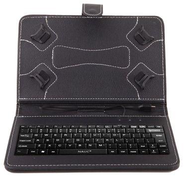 NAUC Keyboard Micro USB Tastatur Ultra für ASUS ZenPad 8.0 Z380M Tablet dünn ergonomisches Design QWERTZ Tastatur mit Schutzhülle aus robustem leicht zu reinigenden Kunstleder mit Standfunktion und Magnetverschluss – Bild 10
