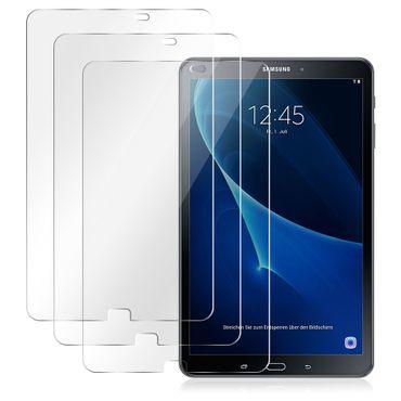 Displayschutz Panzerfolie für Samsung Galaxy Tab A6 10.1 2016 3x HD Schutzfolie  – Bild 2