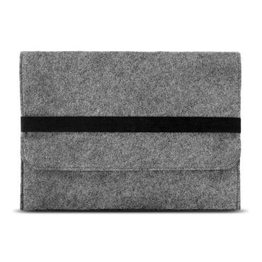 Tasche Hülle für Apple Macbook 12 Zoll Filz Sleeve Schutzhülle Laptop Case Cover Notebook Bag aus strapazierfähigem Filz in Grau mit Innentaschen und sicheren Verschluss von NAUC – Bild 3