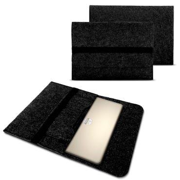 """Tasche Hülle für 15"""" 15.6 Zoll Filz Sleeve Schutzhülle Laptop Case Ultrabook Cover Notebook Bag aus strapazierfähigem Filz in dunkel Grau mit Innentaschen und sicheren Verschluss von NAUC – Bild 1"""