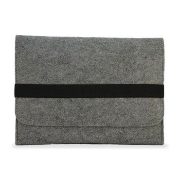 Tasche Hülle für Laptop Case Ultrabook Cover Notebook für TrekStor SurfTab duo W3 Filz Sleeve Schutzhülle Bag aus strapazierfähigem Filz in Grau mit Innentaschen und sicheren Verschluss von NAUC – Bild 3