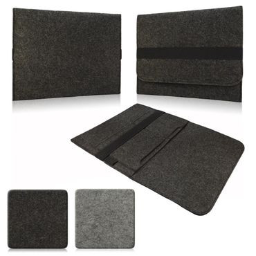 Tasche Hülle für Laptop Case Ultrabook Cover Notebook für TrekStor SurfTab duo W3 Filz Sleeve Schutzhülle Bag aus strapazierfähigem Filz in Grau mit Innentaschen und sicheren Verschluss von NAUC – Bild 1