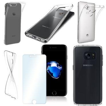 Echtglas 9H Slim Case Tasche Smartphone Glasfolie Hülle Panzerfolie Schutzglas  – Bild 1