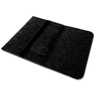 Tasche Hülle für Laptop Case Ultrabook Cover Notebook für TrekStor SurfTab twin 11.6 Filz Sleeve Schutzhülle Bag aus strapazierfähigem Filz in Grau mit Innentaschen und sicheren Verschluss von NAUC – Bild 14