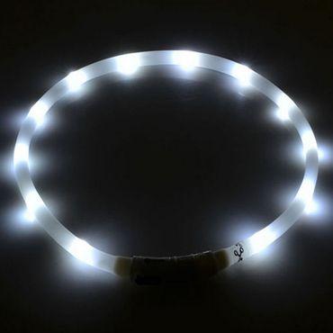 Hundehalsband Led Weiss Leuchthalsband Leucht Halsband Hunde Sicherheitshalsband – Bild 1