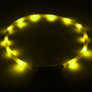 Led Hundehalsband Gelb Sicherheitshalsband Leuchthalsband Hunde aufladbar USB – Bild 2