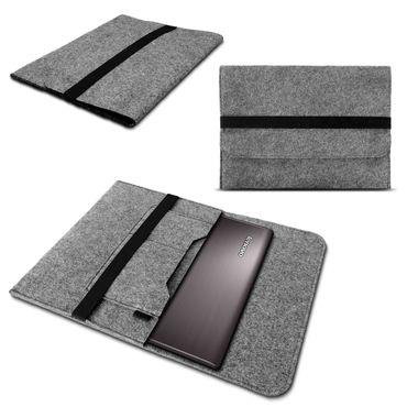 Sleeve Tasche für Lenovo ThinkPad X1 Yoga - Carbon Hülle Grau Filz Case Cover – Bild 1