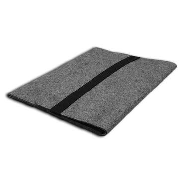 Nauc Tasche für Apple MacBook 12 Zoll Grau Sleeve Hülle Notebook Filz Cover Case – Bild 4