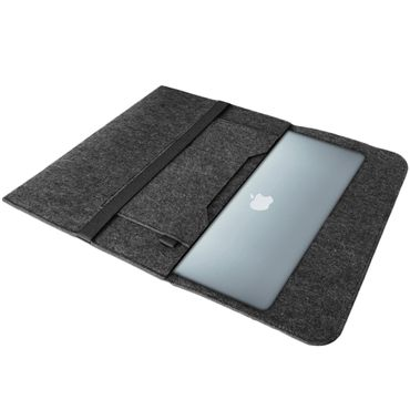 Sleeve Hülle Apple MacBook 12 Zoll Tasche Dunkelgrau Notebook Filz Cover Case  – Bild 2