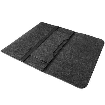 Sleeve Tasche Dell XPS 13 9370 9360 9365 Hülle Dunkel Grau Filz Case Schutzhülle – Bild 3