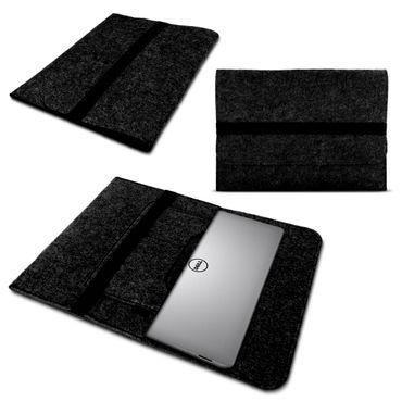 Dell XPS 15 Sleeve Tasche Hülle dunkelgrau Filz Case Schutzhülle Cover Schutz – Bild 1