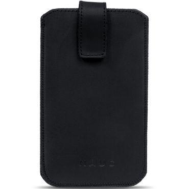 "Handy Leder Tasche ""Curley"" Sleeve Case 4,7- 5,2 Zoll Hülle Cover schwarz Nauc – Bild 2"