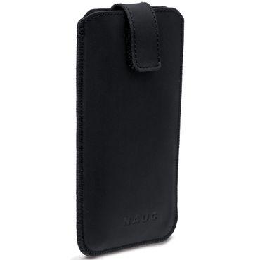"Handy Leder Tasche ""Curley"" Sleeve Case 4,7- 5,2 Zoll Hülle Cover schwarz Nauc – Bild 5"
